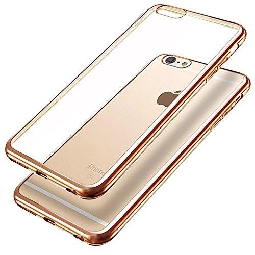 iPhone 6s plus Hülle, iPhone 6 plus Hülle, koala group Plattierung Metallrahmen TPU weichen Gel-Silikon & Ultra-Thin Schlag beständig transparente Schutzhülle Hülle für iPhone 6 plus / 6S plus---Gold