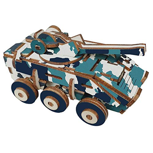 Madera del rompecabezas 3D Vehículo Blindado Rompecabezas de Madera Animal Asamblea Simulación Puzzle Modelo de juguete Juego Jigsaw