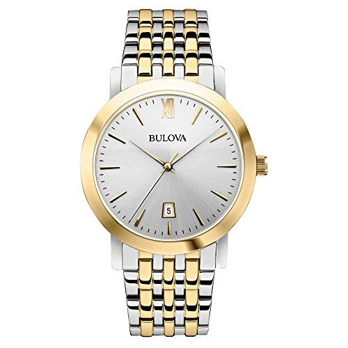 Bulova Unisex 98B221 Analog Display Japanese Quartz Two Tone Watch