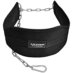 Ultra Fitness - 7-inch back support belt, professional bodybuilding neoprene belt with back clip release system, back support made of double-stitched polypropylene