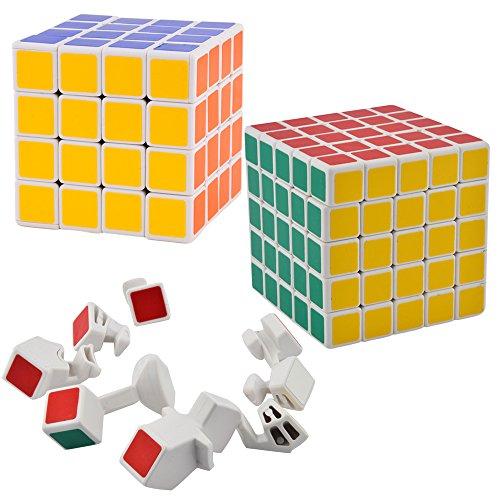 (Shengshou 2x 2x 23x 3x 34x 4x 45x 5x 5Cube Puzzle weiß 4x4x4 5x5x5 White_3)