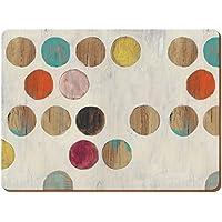 Creative Tops Retro Spot Premium Grand Sets de Table Envers en liège, Bois, Multicolore, Set de 4pièces