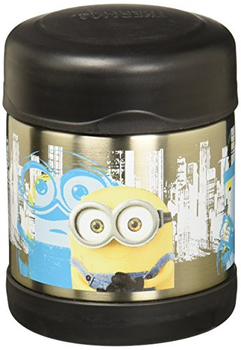 Thermos 10 Ounce Funtainer Food Jar, Minions by Thermos Funtainer 10 Oz Food Jar