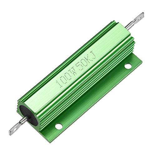 Sourcingmap Aluminium Fall Widerstand 100W 50K Ohm Wirewound grün für LED Ersatz Konverter 100W 50KRJ -