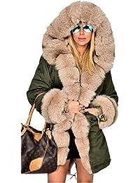 IWFREE Damen Elegante Stil Winter Jacke Mantel Trenchcoat Mantel Mit Kaupzen 7d27e0dfa7