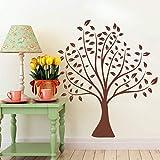 Jixiaosheng Einfache Klassische Braune BaumWandaufkleber WohnkulturWohnzimmer VinylWandtattoosHochzeit Dekoration DiyKunst70 * 80 Cm