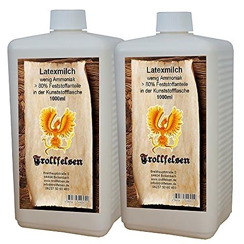 Trollfelsen Latexmilch Flüssiglatex 500 ml Kunststoffflasche Transparent Naturfarben Maskenbau Bodypaint 1 (Kostüm Maskenbildner)