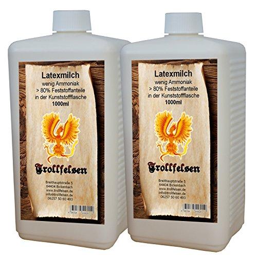 Trollfelsen Latexmilch Flüssiglatex 1000 ml Kunststoffflasche Transparent Naturfarben Maskenbau Bodypaint 1 Stück (Bau Kostüm Diy)