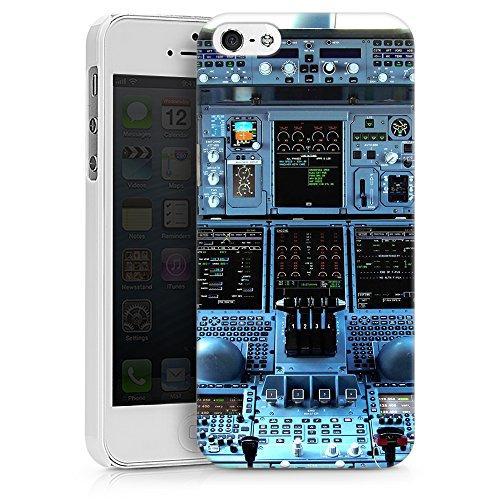 """artboxONE Handyhülle Apple iPhone 5s, weiß Silikon-Case Handyhülle """"Cockpit Airbus A380 Case"""" - Sport - Smartphone Silikon Case mit Kunstdruck hochwertiges Handycover von Alexis von Croy Hard Case weiß"""