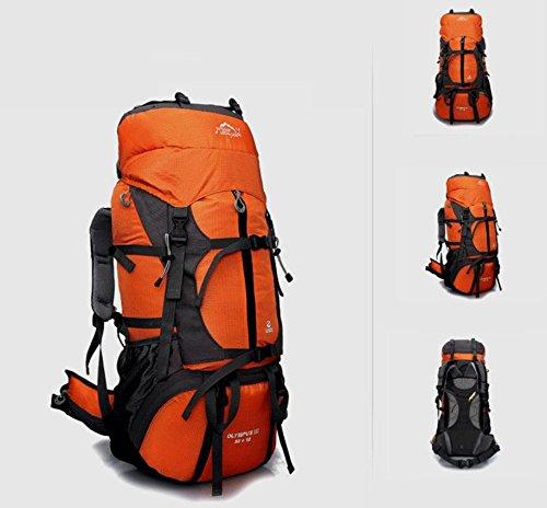 ROBAG Zaino Outdoor escursionismo campeggio Alpinismo borse borse a tracolla per uomini e donne 65L , army green orange