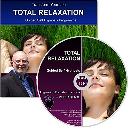 Total Relaxation Hypnosis CD - Complete hypnotherapy relaxation session from the comfort of your own home to help you into a gentle but deep trance by GQHP, GHR, CNHC Peter Deare Dip Hyp Deep Dip