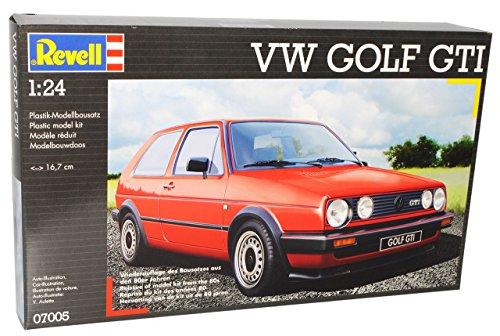 Revell Volkwagen Golf 2 ii GTI Rot 1983-1992 07005 7005 Bausatz Kit 1/24 Modellauto Modell Auto