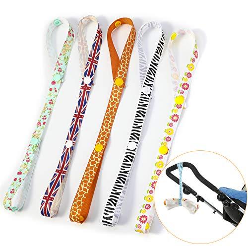 en Halter, Babyflasche Cup Spielzeug Clip Anti-Drop Strap Halter Aufhänger für Kinderwagen(5 Stück) ()
