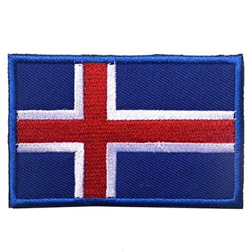 Shoppy Star - Parche bordado bandera Islandia, Finlandia