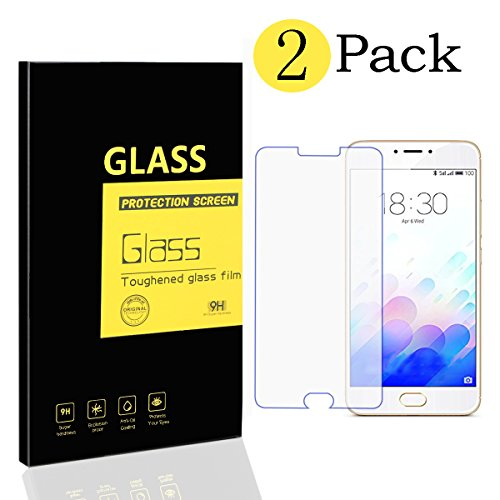 [2-Pack] Meizu M3 Note Screen Protectors , MENGGOOD Tempered Glass Protective Films...
