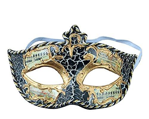 Kapmore Mens Masquerade Máscara Clásico Vintage Musical Fantasma de la ópera Mardi Gras Máscara