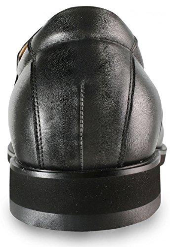 Masaltos - Chaussures rehaussantes pour homme. Jusqu'à 7 cm plus grand! Modèle Amalfi Noir
