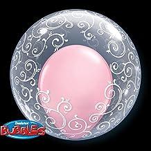 QUALATEX BUBBLES - Bubble Filigrana 61 Cm, Color Transparente, Talla 56 cm diámetro