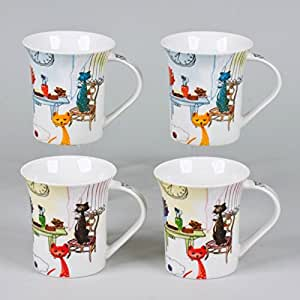 TREND'UP - ACCORDEON 4 MUGS CHAT MINOUS 30CL