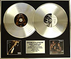EC 2PAC /Zweifache Platin Schallplatte Display/Limitierte Edition/COA/ME Against The World & All Eyez ON ME
