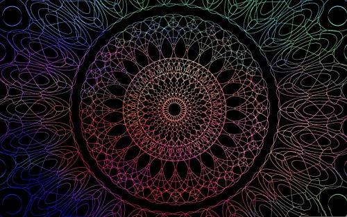 Rompecabezas 1500 Piezas Adultos De Madera Niño Puzzle-Mandala De Linea-Juego Casual De Arte Diy Juguetes Regalo Interesantes Amigo Familiar Adecuado