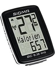 Sigma BC 9.16 Ats Fahrradcomputer, Schwarz, One size