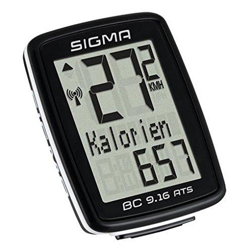 SIGMA 09162 Compteur de Vélo sans Fil Mixte Adulte, Noir