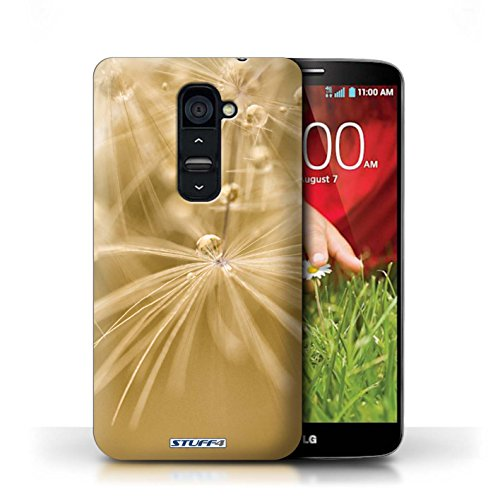 Kobalt® Imprimé Etui / Coque pour LG G2 / Fleur Jaune conception / Série Gouttes de Fées Fleur Jaune