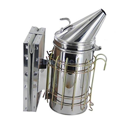 HanSemay Edelstahl Smoker Imkerei, Smoker Imkereibedarf Elektro Smoker Imkerpfeife Bienen Tool (236) -