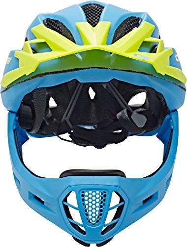 Cratoni Fahrradhelm C-Maniac, Blue/Lime Matt, 58-61 cm, 112406B3 - 2