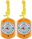 AceCamp 2 x Kartenkompass mit Lineal, Taschen-Kompass Ideal für Pfadfinder, Survival, Navigation, Backpacking, Trekking, Doppelpack 3110