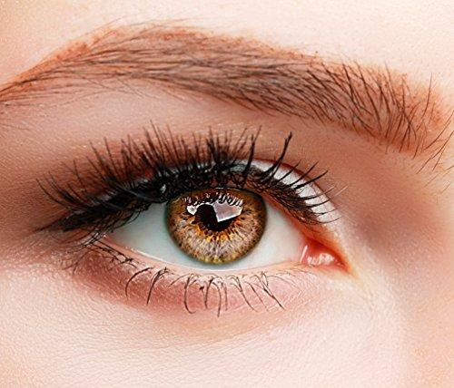 Farbige Kontaktlinsen SUPREME BRAUN HASELNUSS ohne Stärke BESONDERS NATÜRLICH (Natürliche Farbige Kontaktlinsen)