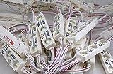 10x Stück Samsung 3-LED Modul Kaltweiß Streifen Leiste SMD 5730 1,2W mit 3M Kleber IP67 160° Abstrahlwinkel Wasserdicht DC 12V 66 * 15mm Weiß