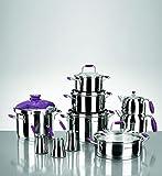 Korkmaz Flora Hyper 17 Teilig Küchen Set Ceyiz Lila