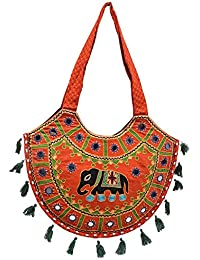 Gaurapakhi Women's Stylish Multi-Colour Rajasthani Print Shoulder Bag (Totes)