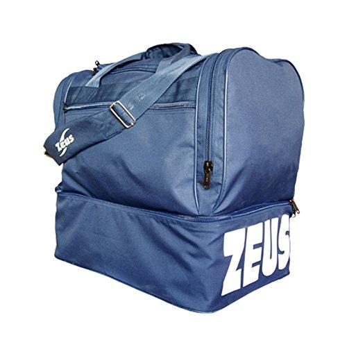 Zeus Herren Sporttasche Fußball Schultergurt Umhängetasche BORSA MAXI 52X52X36 cm (GRENADE) blau
