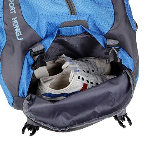 LF&F 45L GroßE KapazitäT Freizeit Outdoor Sport UmhäNgetasche Wander Rucksack Schultasche Laptop-Tasche Bergsteigen Camping Picknick Party Tasche Multi Pocketed Paket C