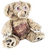 Brubaker Zombie Teddy 25 cm hoch - Beige - Horror Teddybär - Halloween Dekoration