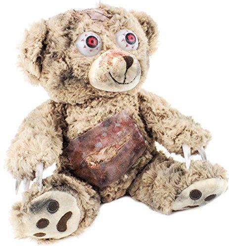 y 25 cm hoch - Beige - Horror Teddybär - Halloween Dekoration (Halloween Zombie Dekoration)