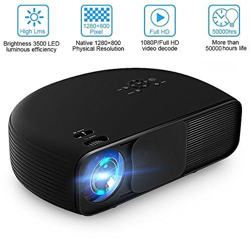 Beamer LCD HD 3200Lumen joyhero 1280x 800full 3D Grand Laptopbildschirm LED Projektor Home Cinema CL760-Noir