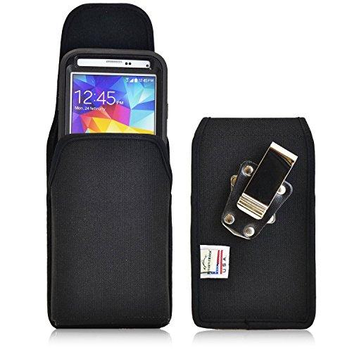 Turtleback Vertikal Ballistic Nylon Tasche Erweitert-passend für Samsung Galaxy S5mit Otterbox-Metall Gürtelclip-Magnetverschluss-Made in USA (S5 Otterbox Case Mit Clip)