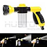 51nmscbIAKL. SL160  - NO.1 BEST BUY Aution House - Multifunctional High Pressure Foam Water Spray Gun Home Garden Lawn Pet Car Wash - Heavy Duty 8 Pattern Metal Watering Nozzle - Water Gun Garden Hose Nozzle Sprayer Gun - Flow Control Setting Knob - Designed for Car Washing, Garden/Lawn Watering, Room/Deck/Floor Cleaning, Pets Washing (Yellow) price Review uk