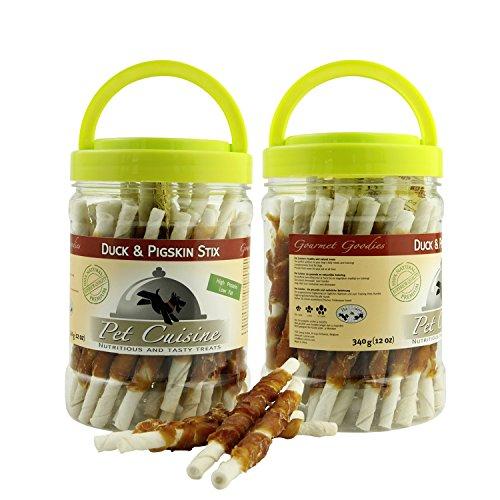 Pet Cuisine Friandise pour Chien,Bâtonnets de Canard & Couenne,340g x2 paquets