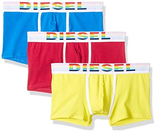 Diesel Herren Boxershorts UMBX-DAMIENTHREEPACK, 3er Pack, Mehrfarbig (Red/Blue/Yellow E3956), Medium