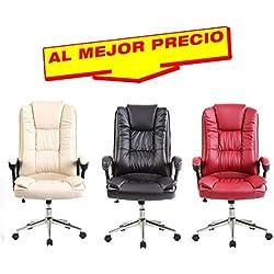 SILLAS DE ESCRITORIO OFICINA ELEGANTE, SILLA DE OFICINA SILLON DE DESPACHO ESTUDIO DIRECCION - OFERTAS HOGAR Y OFICINA MODELO LEADERSHIP -¡AL MEJOR PRECIO! DISPONIBLE EN VARIOS COLORES (Rojo Vino)