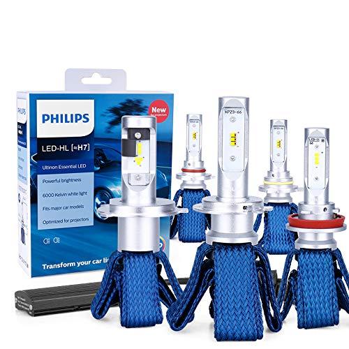 H7 LED H4 H8 H11 H16 9005 9006 9012 HIR2 HB3 HB4 Ultinon Lampadine a LED essenziali per auto 6000K Fari auto fendinebbia 2PC