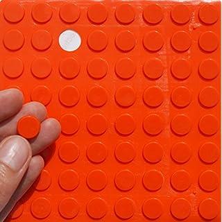 ORANGE 3M RUBBER FEET Bumpons ~ 12mm Dia x 2mm Height ~ Adhesive Anti-Slam Furniture Unit Door Protectors (40 Individual Bumpons)