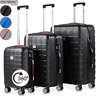 Monzana-Hartschalenkoffer-Traveler-Exopack-3-teiliges-Set-Reisekoffer-Trolley-Koffer-TSA-Schloss