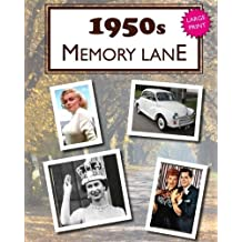 1950s Memory Lane: Large print book for dementia patients
