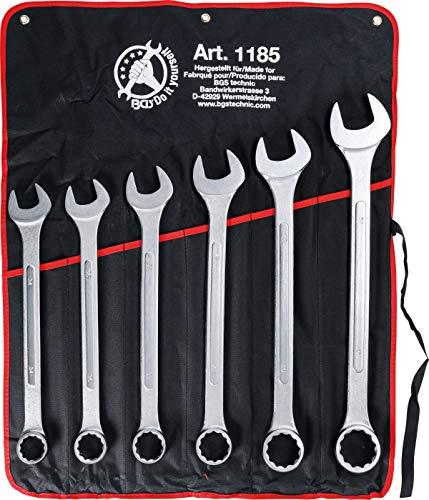 Kraftmann 1185 | Maul-Ringschlüssel-Satz | 6-tlg. | XXL | SW 34 - 50 mm | inkl. Tetron-Rolltasche
